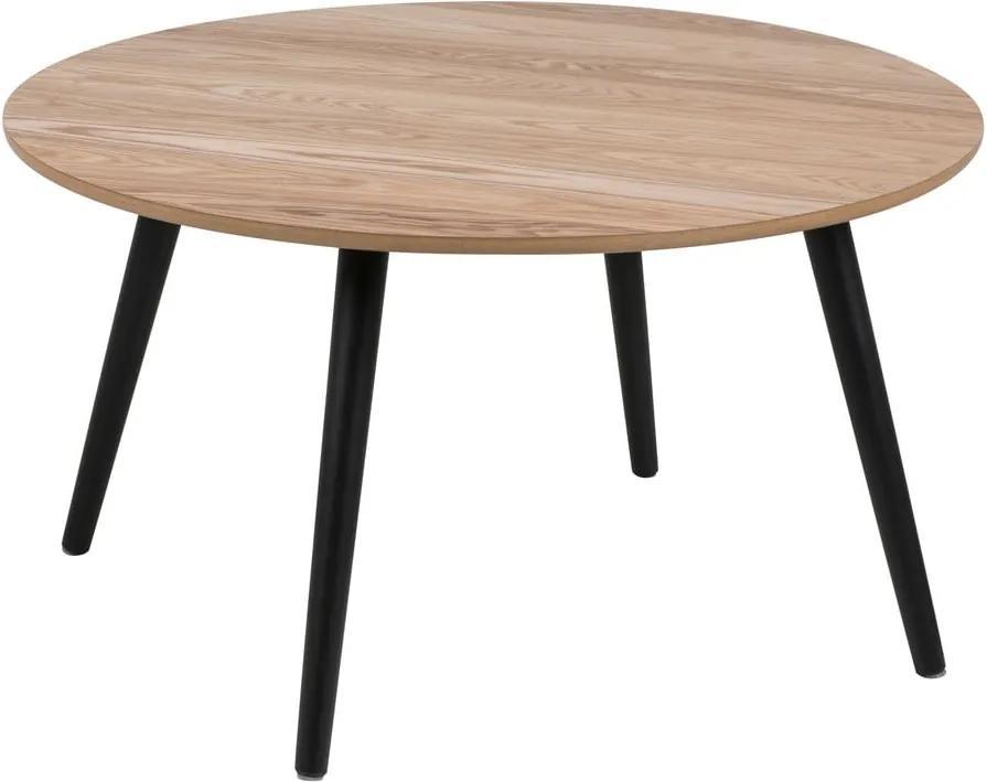 Konferenčný stolík s dyhou z jaseňa Actona Stafford, ⌀ 80 cm