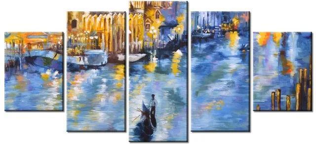 Tlačený obraz Nočné Benátky 150x70cm 3537A_5B