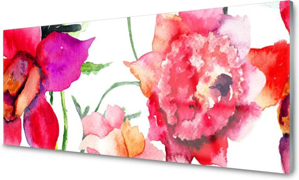 Obraz na skle Skleněný květiny umění