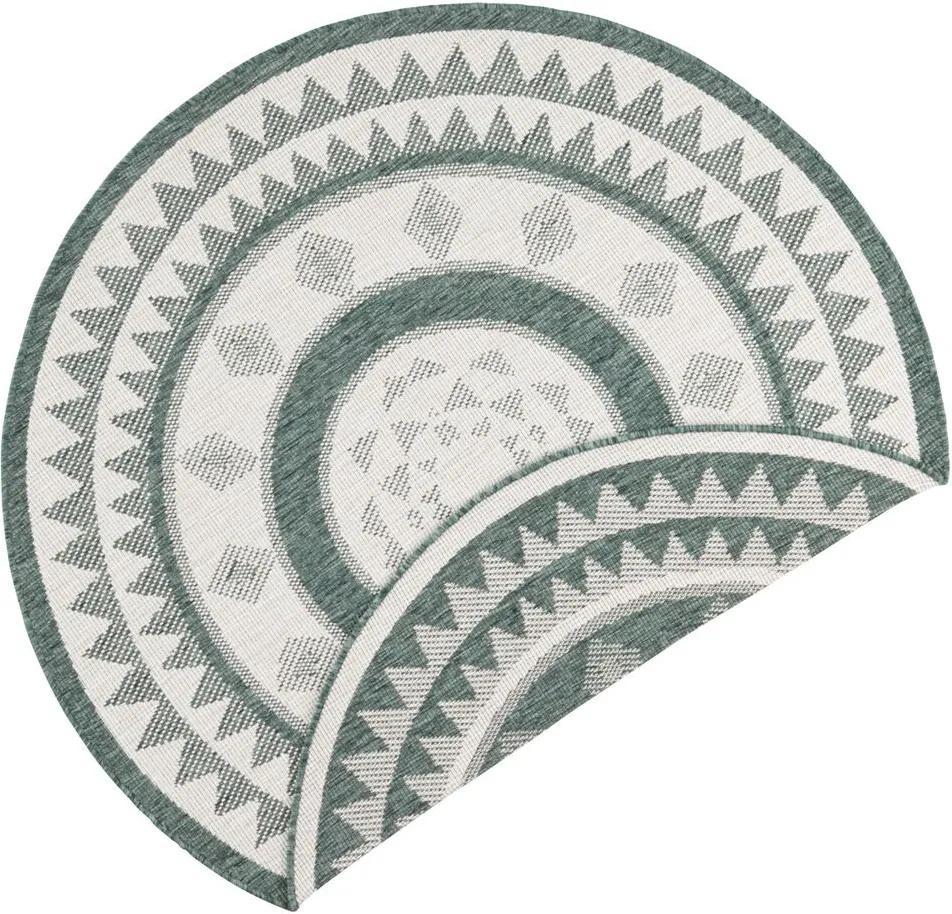 Bougari - Hanse Home koberce Kusový koberec Twin Supreme 103415 Jamaica green creme - 140x140 (průměr) kruh cm