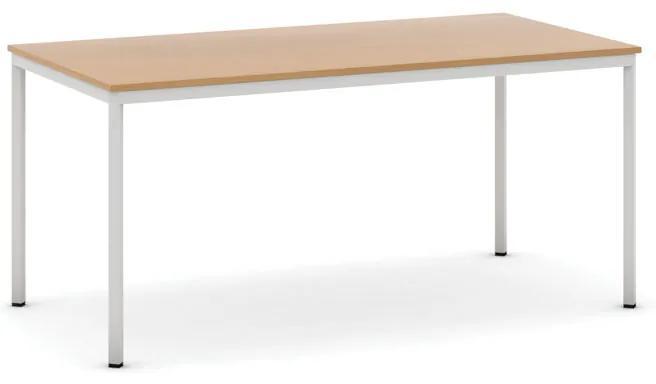 Jedálenské stoly, 1600 x 800 mm, buk, svetlo sivá konštrukcia