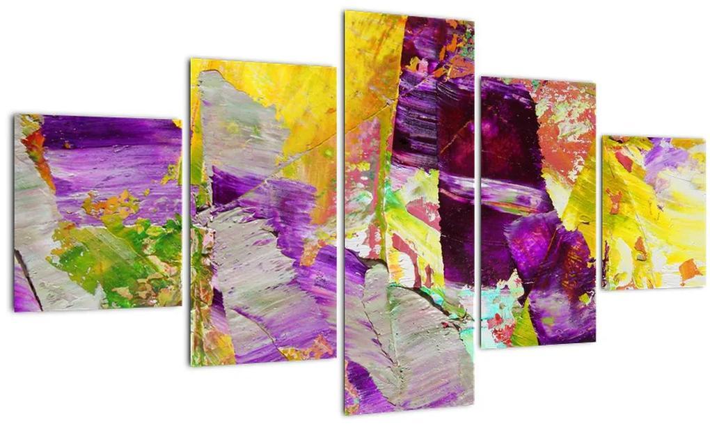 Obraz abstrakcie - maľba (125x70 cm), 40 ďalších rozmerov