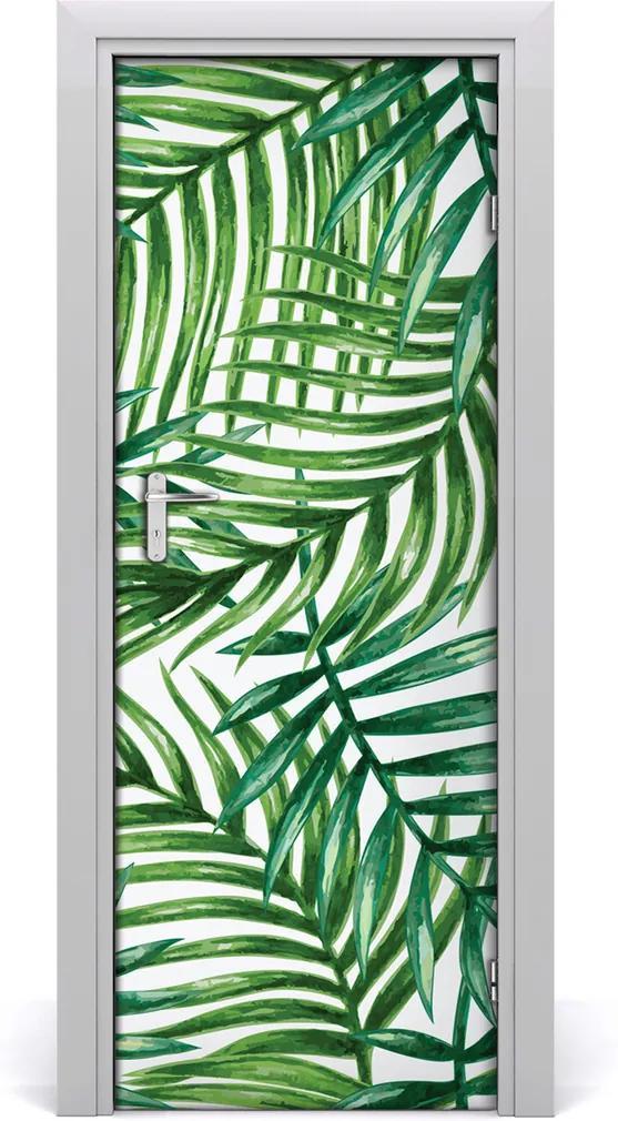 Samolepící fototapeta na dveře Listy palmy