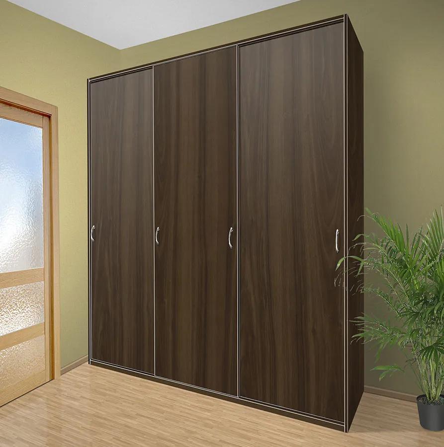 Nabytekmorava Šatníková skriňa s posuvnými dverami Alfa 28 farba lamina: orech 729