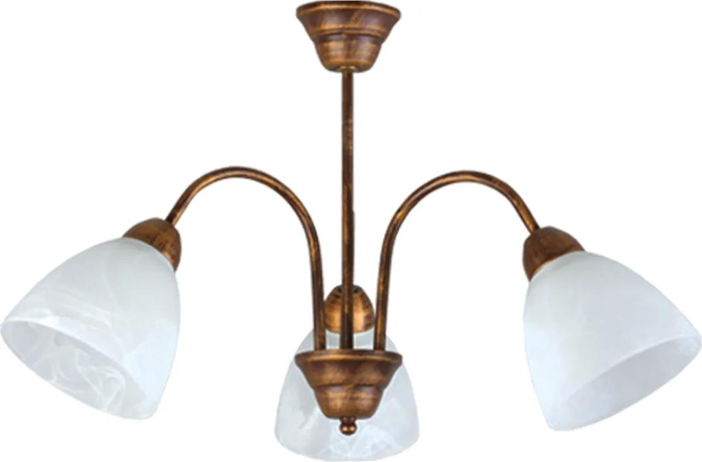 Závesné svietidlo Lampex 119/3 patina - Pôvodne 74.80 € = Zľava 50%