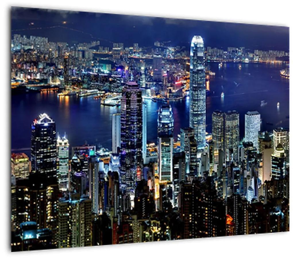 Obraz mrakodrapov v noci (70x50 cm), 40 ďalších rozmerov