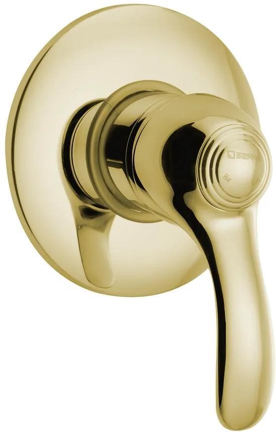 SAPHO - KIRKÉ podomítková sprchová baterie, 1 výstup, zlato (KI41Z)