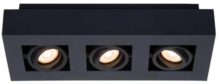 LUCIDE 09119/16/30 XIRAX stropné bodové stmievateľné svietidlo 3xGU10/5W LED čierna