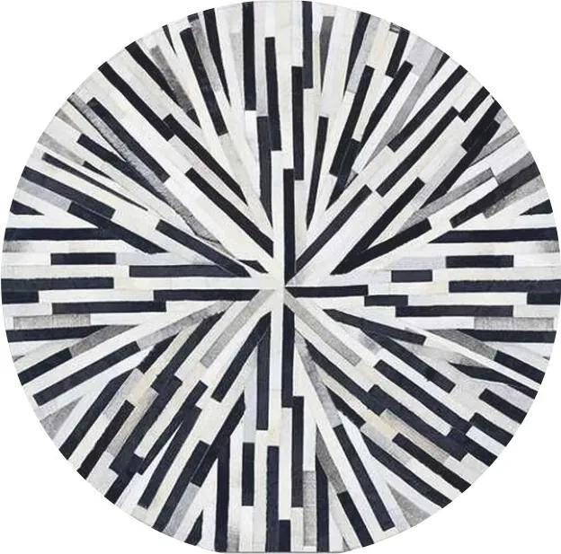 TEMPO KONDELA Typ 8 kožený koberec 200x200 cm vzor patchwork