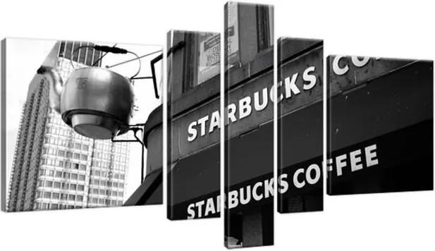 Obraz na plátne Starbucks - Mith Huang 160x80cm 961A_5J