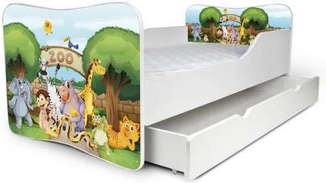 MAXMAX Detská posteľ so zásuvkou ZOO + matrac ZADARMO