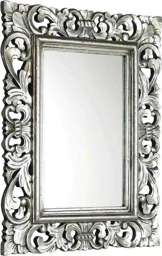 Samblung IN109 zrkadlo v ráme, 40x70 cm, strieborná Antique