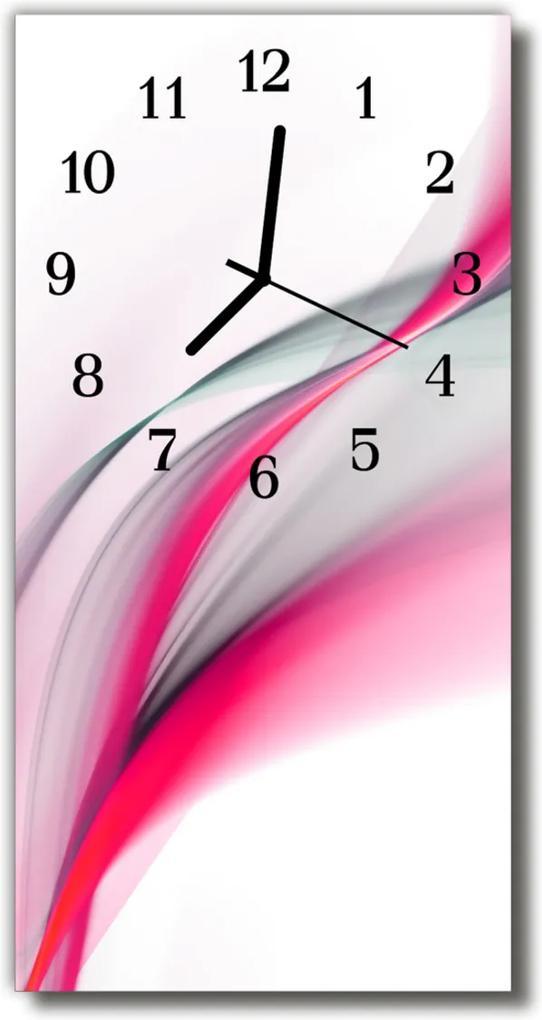 Skleněné hodiny vertikální Umělecká abstraktní růžová