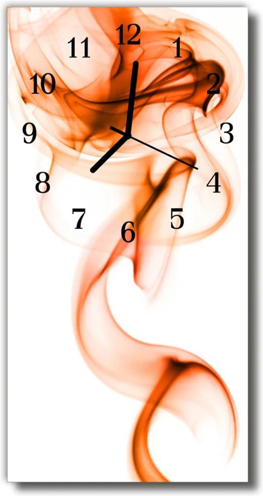 Skleněné hodiny vertikální Umělecká kouř, barevná vlna