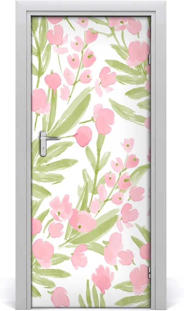 Fototapeta samolepiace na dvere  ružové kvety