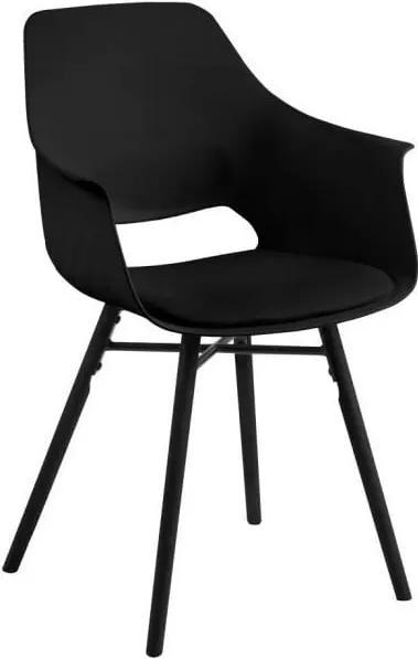 Sada 2 čiernych jedálenských stoličiek Actona Ramona Dining Set Total Black