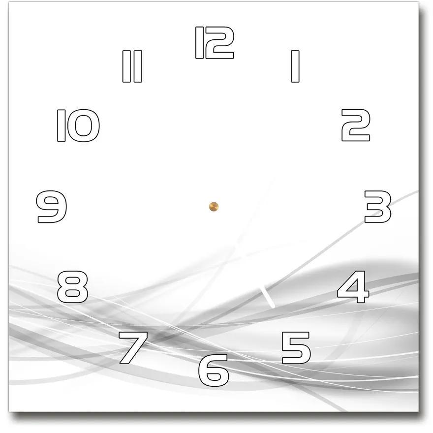Sklenené hodiny na stenu Abstrakcie vlna pl_zsk_30x30_f_79334921