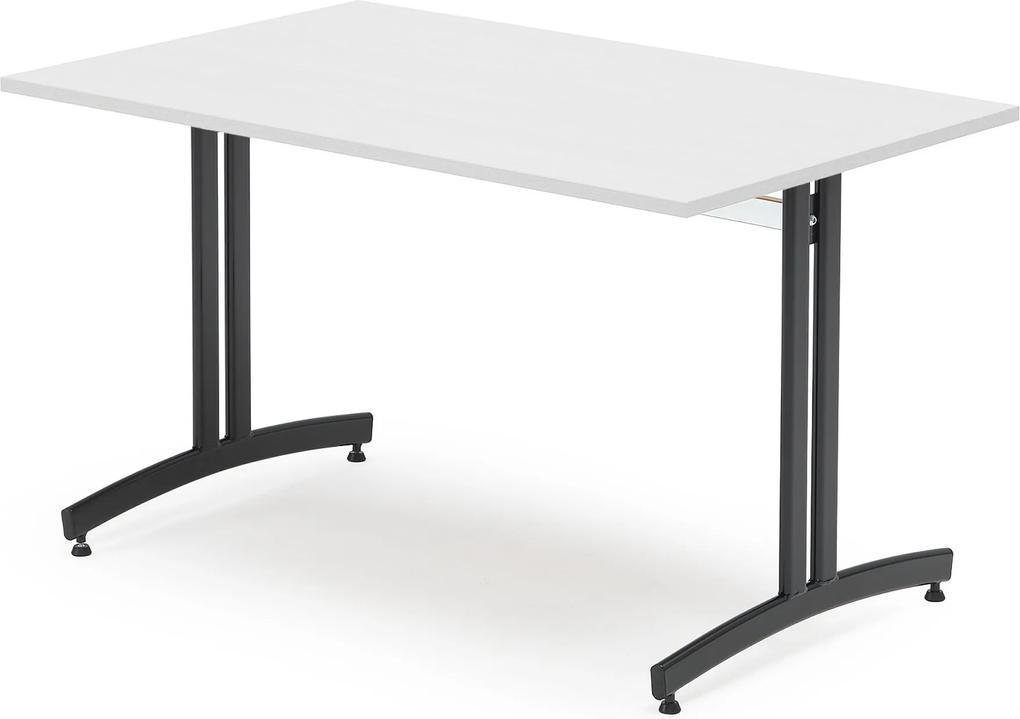 Jedálenský stôl Sanna, Š 1200 x H 800 x V 720 mm, biela / čierna