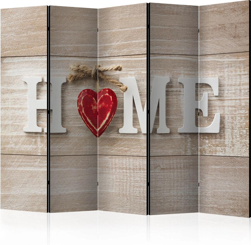 Paraván - Room divider - Home and red heart 225x172 7-10 dní