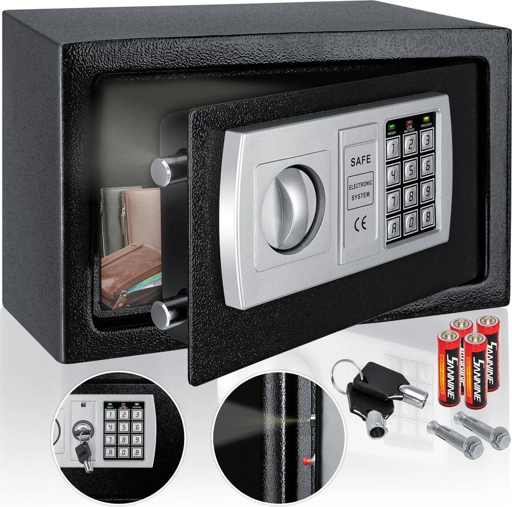 Safe / elektrický trezor/ bezpečnostní schránka / LED displej / Kesser / černý
