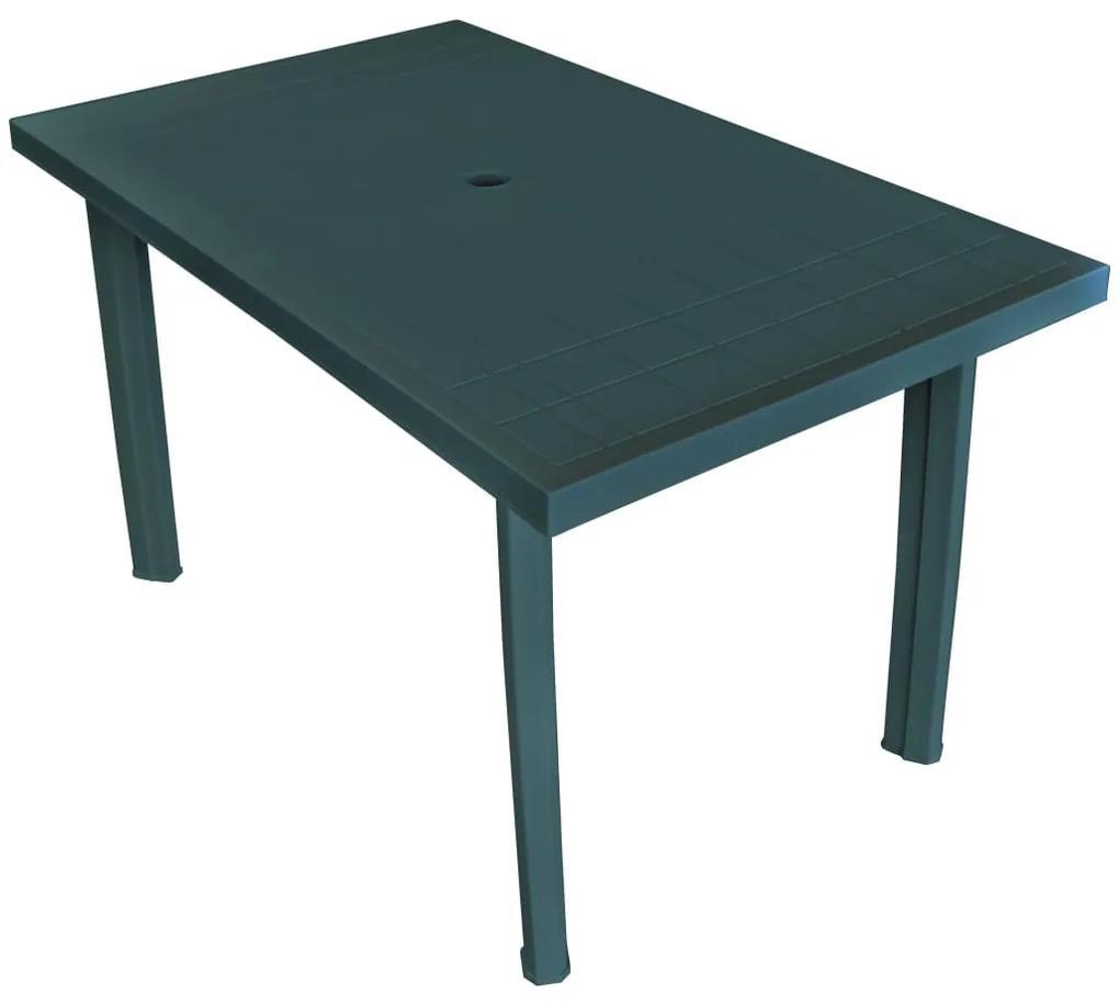 ed34d8733b2f4 Plastový záhradný stôl 126 x 76 x 72 cm, zelený | Biano