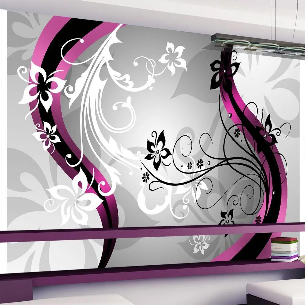 Fototapeta - Art-flowers (pink) 300x210