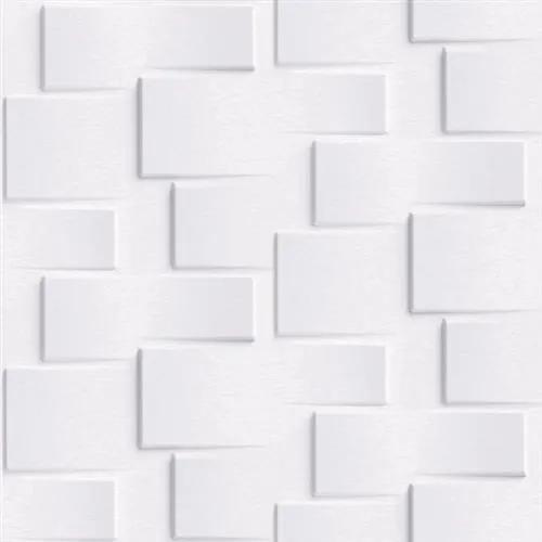 Vliesové tapety na stenu Exposure EP3301, rozmer 10,05 m x 0,53 m, 3D metalický obklad biely, Grandeco