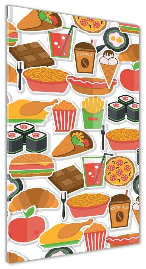 Foto obraz akrylový Jedlo fast food pl-oa-70x140-f-66312714