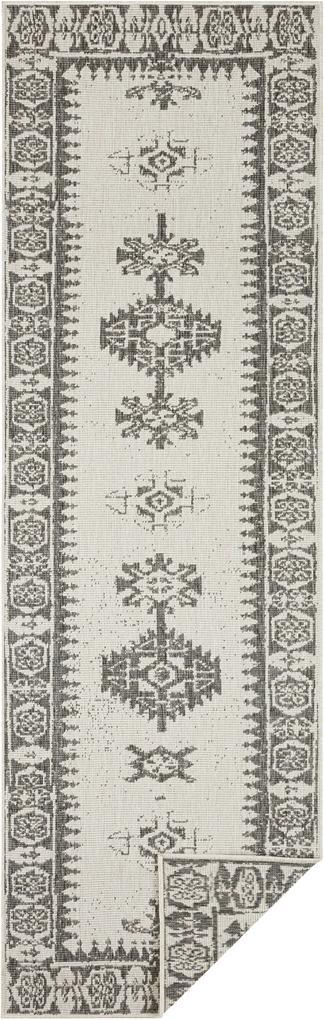 Bougari - Hanse Home koberce Běhoun Twin Supreme 104124 Grey/Cream - 80x250 cm