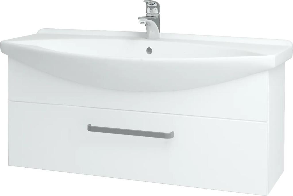 Dřevojas - Koupelnová skříň TAKE IT SZZ 105 - N01 Bílá lesk / Úchytka T01 / N01 Bílá lesk (134419A)