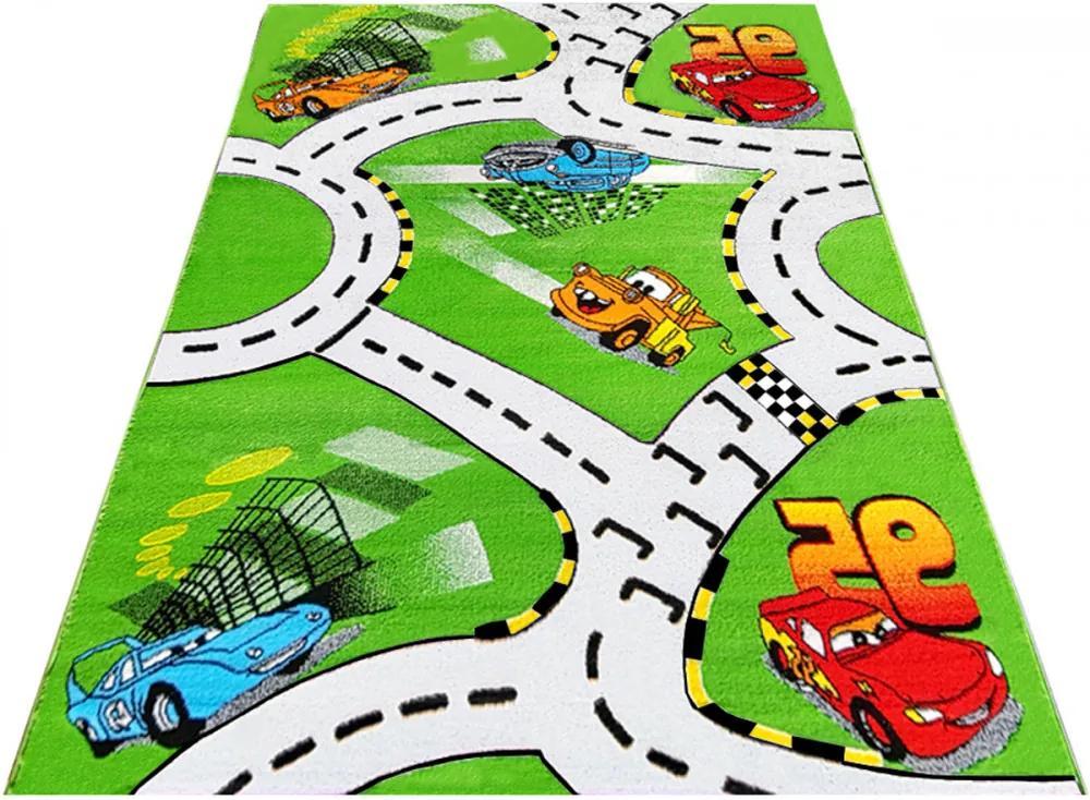 Detský kusový koberec Cestičky zelený 2, Velikosti 240x330cm