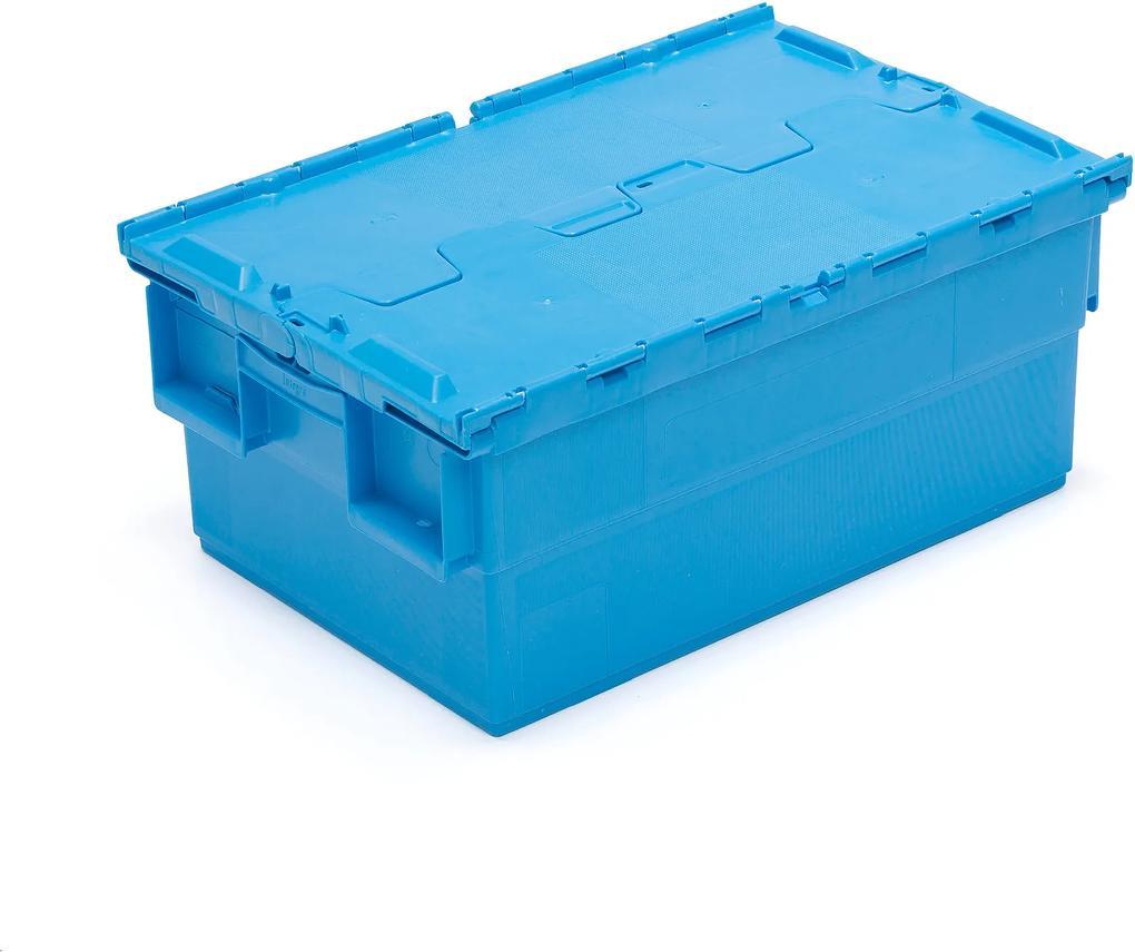 Úložný box, 46 L, Š 400 x D 600 x V 250 mm, modrý