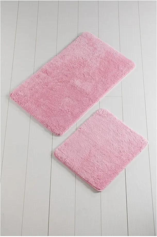 Sada 2 ružových kúpeľnových predložiek Color of Candy Pink