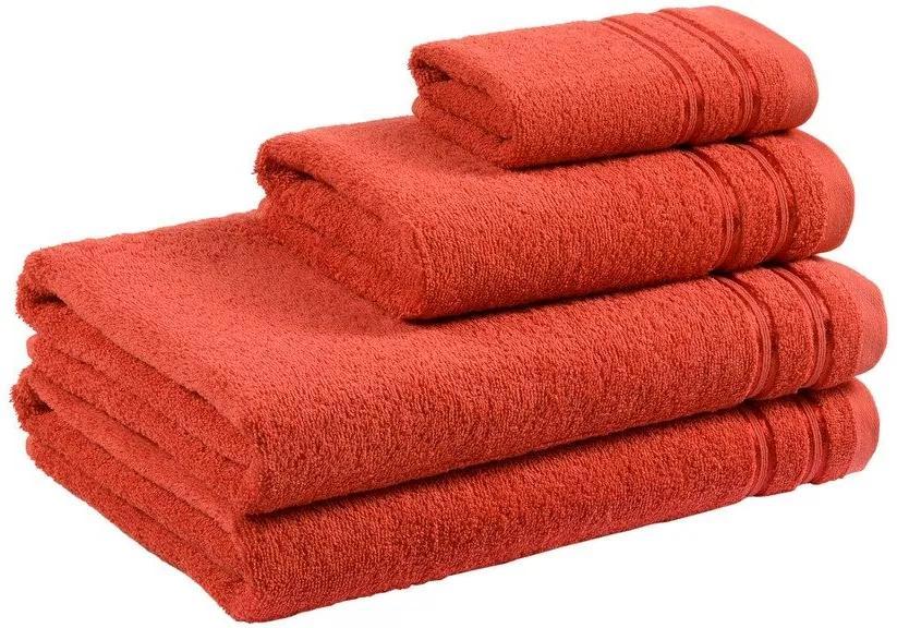 Škodák Froté uterák / osuška Nina vzor 003 terakota - Malý uterák 30 x 50 cm