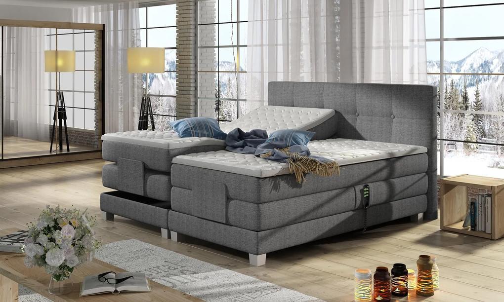 Kvalitná box spring posteľ Espona 180x200cm