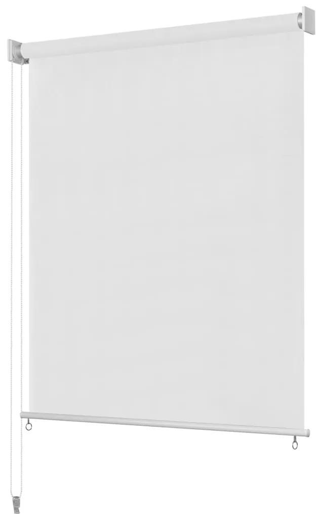 vidaXL Vonkajšia zatemňovacia roleta, 160x140 cm, biela