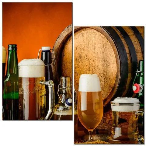 Tlačený obraz Domáce pivo 60x60cm 2118A_2A