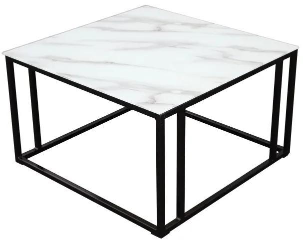 Rock konferenčný stolík 75x75 čierny