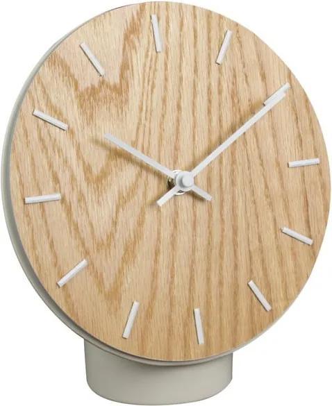 Stolové drevené hodiny s keramickým podstavcom Le Studio Hygge