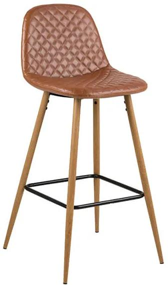 Wilma barová stolička hnedá/natur