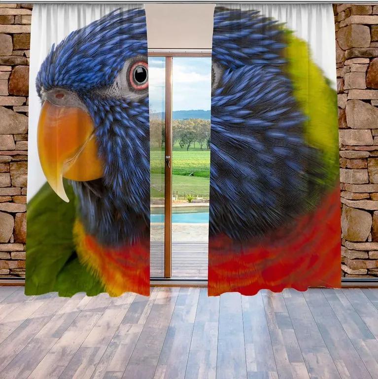 Závesy Farebný papagáj (Rozmer: 140x250)