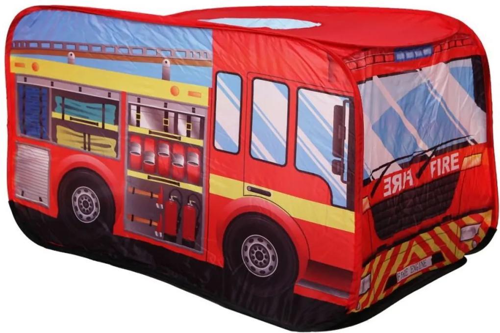 Detský stan - hasičské auto