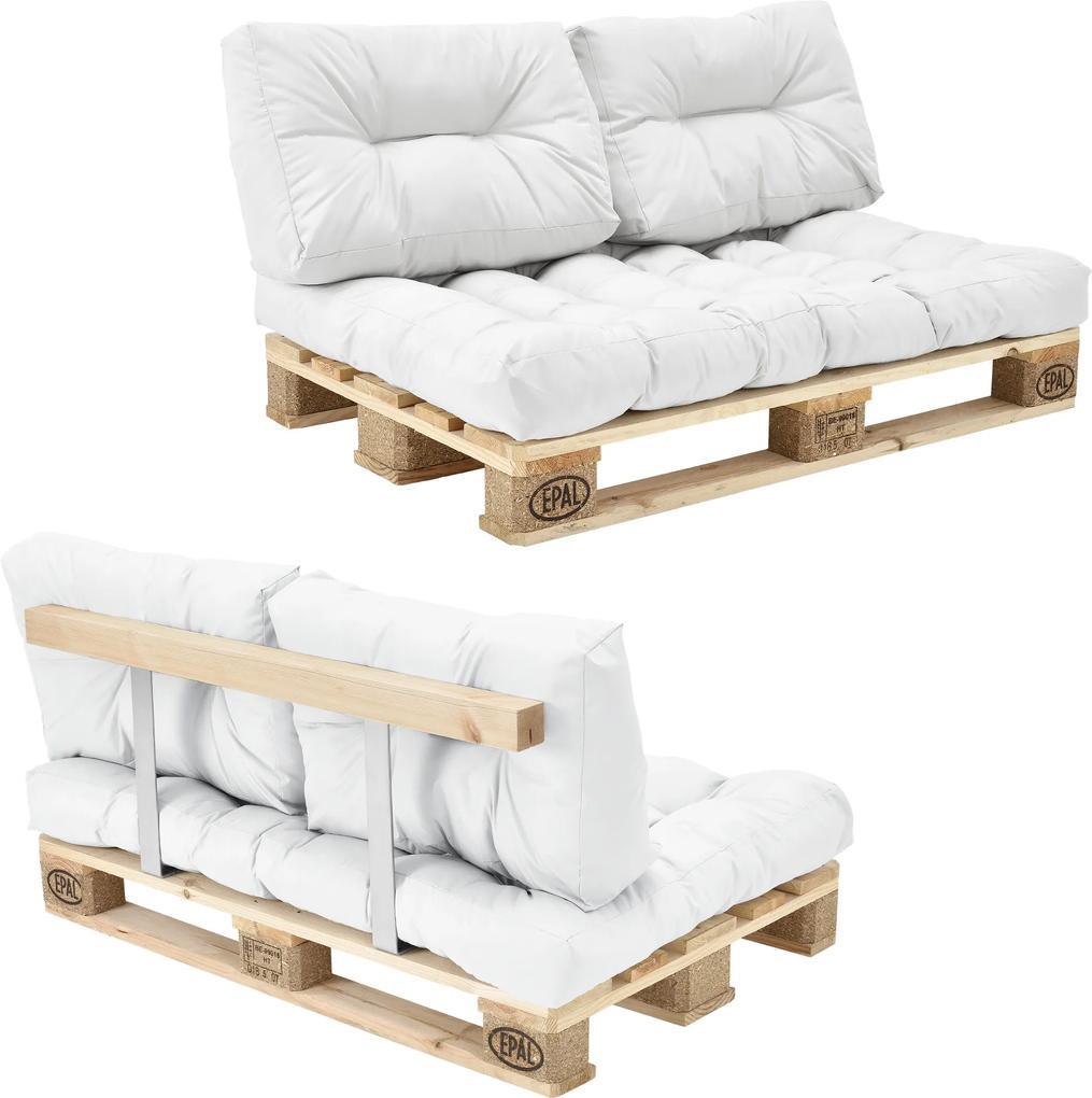 [en.casa]® Paletový interiérový nábytok - model A - biely