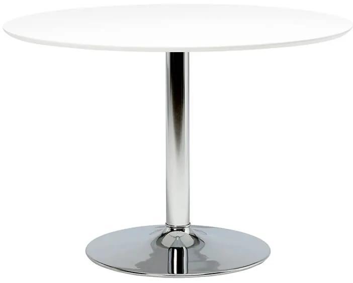 Ibiza jedálenský stôl biela / chróm