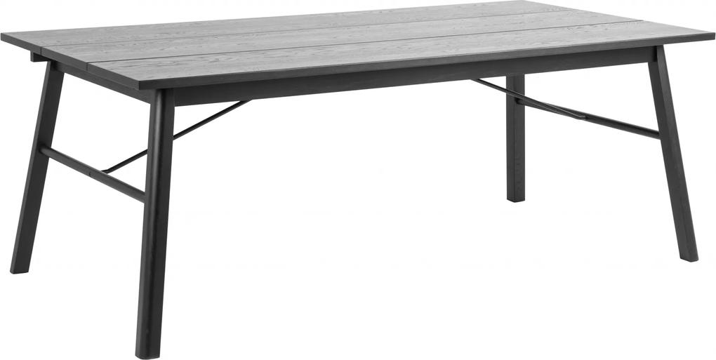 Bighome - Jedálenský stôl CARVER 200x100 cm, čierna
