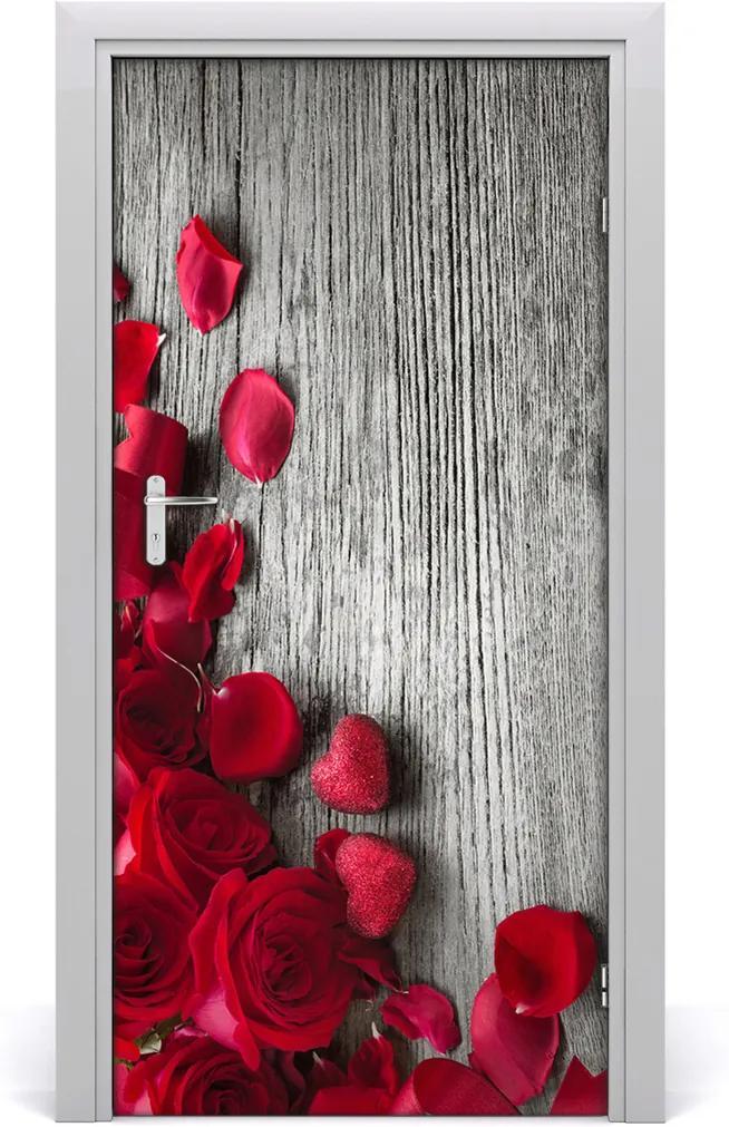 Fototapeta na dvere samolepiace  červená ruža