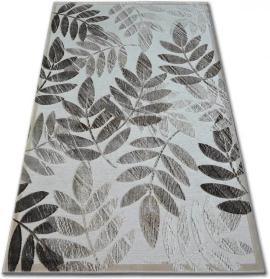 Luxusný kusový koberec Listy béžový, Velikosti 200x290cm