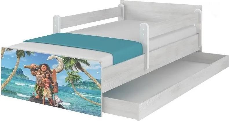 MAXMAX Detská posteľ MAX bez šuplíku Disney - MOANA 180x90 cm 180x90 pre dievča|pre chlapca|pre všetkých NIE modrá|multicolor