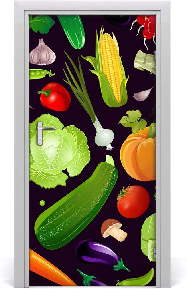 Fototapeta na dveře do domu samolepící Zelenina