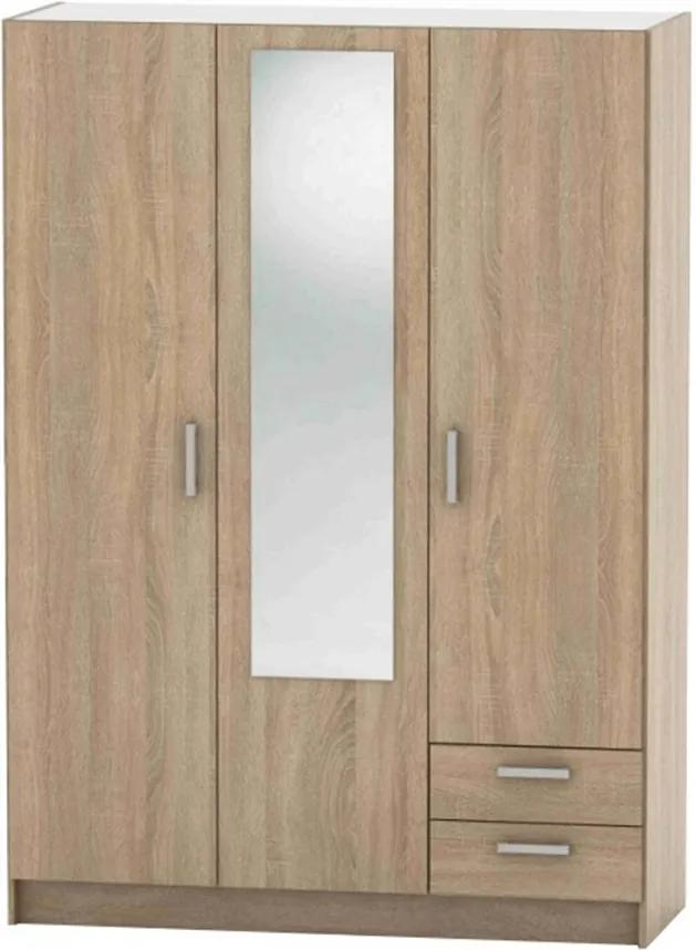 3-dverová skriňa, dub sonoma, BETTY 7 BE07-001-00